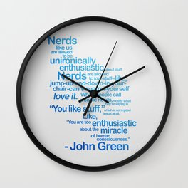 NERDS LIKE US Wall Clock