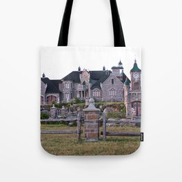 Stone Mansion on the River Tote Bag