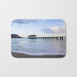 Hanalei Bay Pier at Sunrise Bath Mat