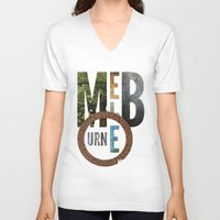 melbourne V-neck T-shirts featuring Melbourne by Virbia