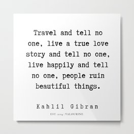 26  | Kahlil Gibran Quotes | 190701 Metal Print
