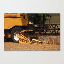 Combine harvester in detail Canvas Print