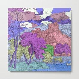 Multicolored Garden Metal Print