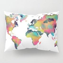 world map 3 Pillow Sham
