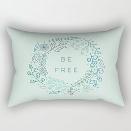 BE FREE - light blue Rectangular Pillow