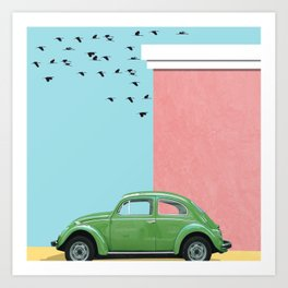 The end of the street Art Print
