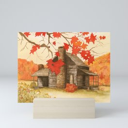 Smoky Mountain Cabin Mini Art Print
