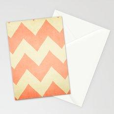 Fuzzy Navel - Peach Chevron Stationery Cards