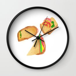Akward Sandwich Wall Clock