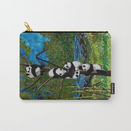 Six Baby Pandas in a Tree Carry-All Pouch