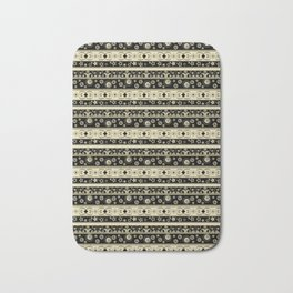 Abstraction. Striped ornament. Bath Mat