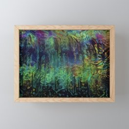 Neon Rain Framed Mini Art Print