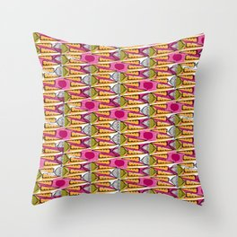 African carrots and beets Throw Pillow