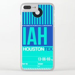 IAH Houston Luggage Tag 2 Clear iPhone Case