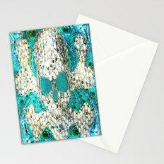 Blingy Blingy Blue Skull Thingy Stationery Cards