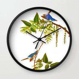 Blue Grey Flycatcher Bird Wall Clock