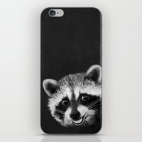 raccoon iPhone & iPod Skins featuring Raccoon  by Laura Graves