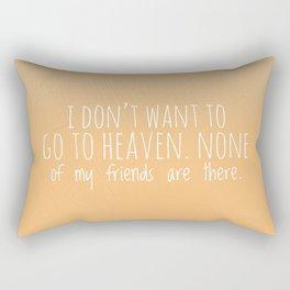 Going to heaven Rectangular Pillow