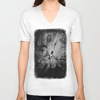 monsters V-neck T-shirts featuring Monsters by Michael Brack