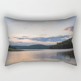 Midwest Sunrise Over the Lake Rectangular Pillow