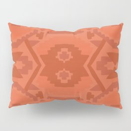 Geometric Aztec in Chile Red Pillow Sham