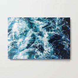 Stormy Ocean Waters Metal Print