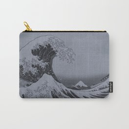 Silver Japanese Great Wave off Kanagawa by Hokusai Carry-All Pouch
