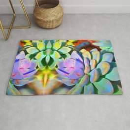 Succulent Color - Botanical Art by Sharon Cummings Rug