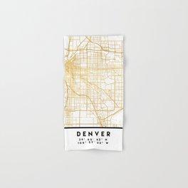 DENVER COLORADO CITY STREET MAP ART Hand & Bath Towel