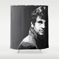will graham Shower Curtains featuring Will Graham from NBC's Hannibal by Alex Mathews
