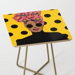 Black Beauty Side Table