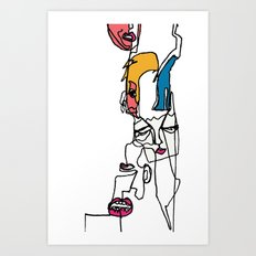 conflicted Art Print