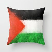palestine Throw Pillows featuring Palestine by 2b2dornot2b
