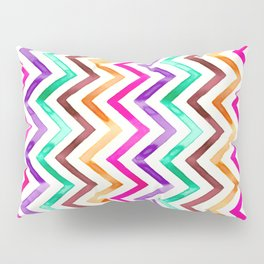 Chevron Multicolor Watercolor Pillow Sham