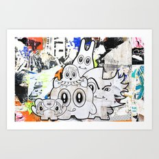 Sugar Monsters Art Print