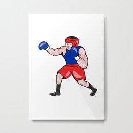 Amateur Boxer Boxing Cartoon Metal Print