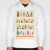 robots Hoodies featuring Robots by ALL TYPE _ Marcio Pontes