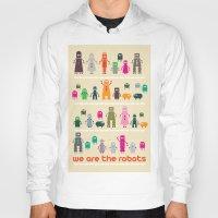robots Hoodies featuring Robots by Marcio Pontes