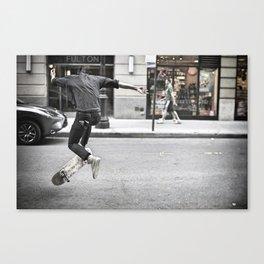 Mid-Air Skater Canvas Print
