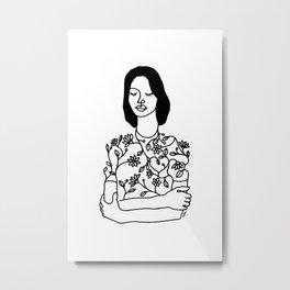 Dress with flowers Metal Print