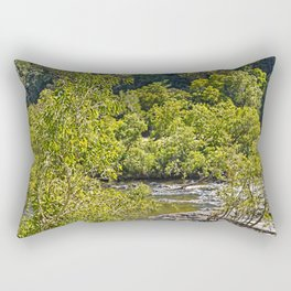 A glimpse of the beautiful river Rectangular Pillow