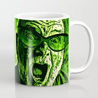 scream Mugs featuring SCREAM! by Silvio Ledbetter