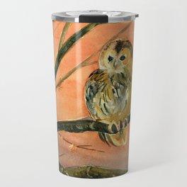 Colorful Owl Art Travel Mug