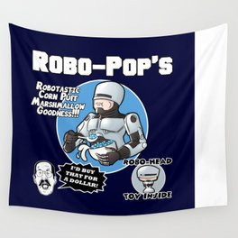 Robo-Pops Breakfast Cereal Mashup  Wall Tapestry