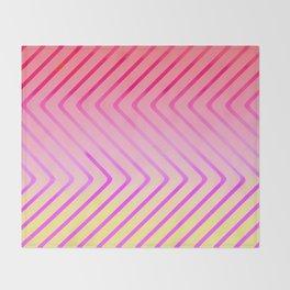 Pop Art Op Art in Red Throw Blanket