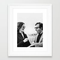 annie hall Framed Art Prints featuring ANNIE HALL by Coco Dávez