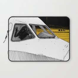 asc 698 - Le tarmac la nuit (Your flight was delayed due to technical problems) Laptop Sleeve