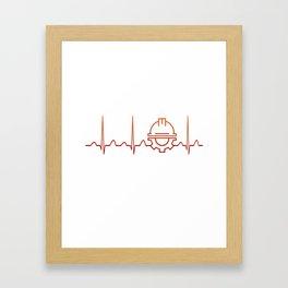 Engineer Heartbeat Framed Art Print