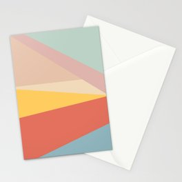 Retro Abstract Geometric Stationery Cards