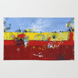 Deerfield Red Yellow Blue Abstract Art Primary Colors Rug